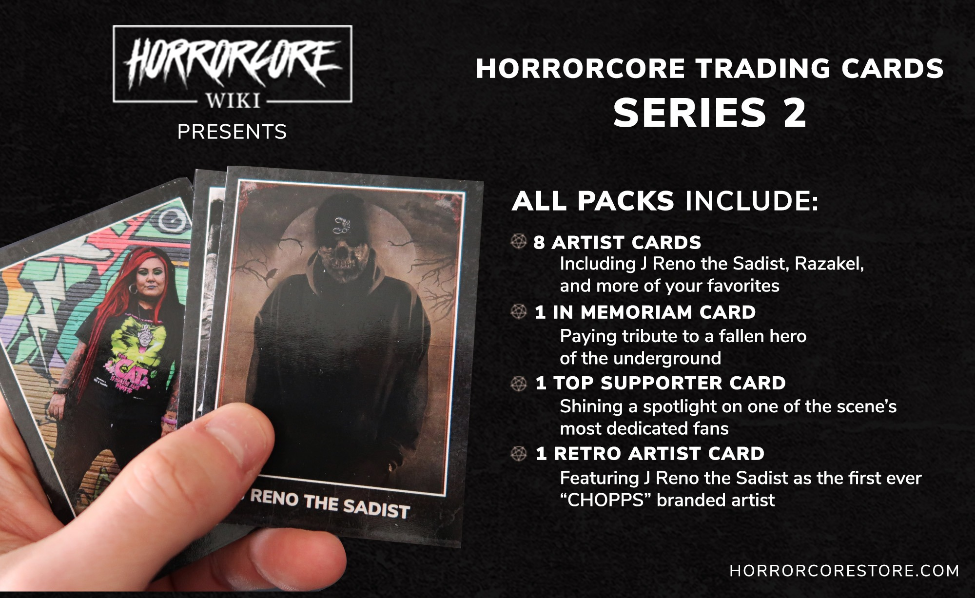 Horrorcore Trading Cards SERIES 2